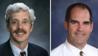 The 2014 candidates for 150th NY Assembly District, which covers all of Chautauqua County, incumbent Andy Goodell (R, C) and challenger Barrie Yochim (D, WF).
