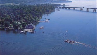 The Village Casino in Bemus Point, on Chautauqua Lake, will be the location of a Chautauqua Lake Rally on Aug. 23, 2014. (Photo from Chautauqua County Government website)
