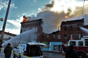Four Buildings Destroyed in Falconer Fire
